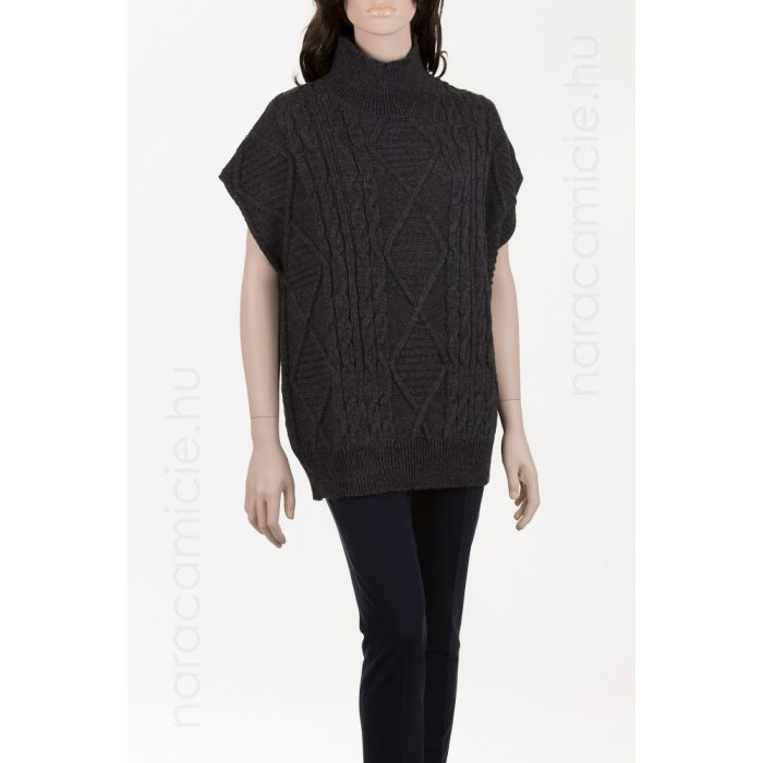 High neck knitted vest 298501 A 19 38/M/II