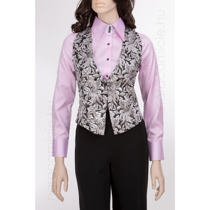 Silver embroidered vest D08579 T6603 F01
