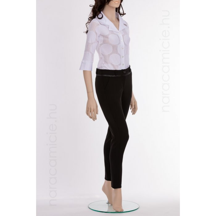 Elastic black pants F2771 IOL 99 46/L