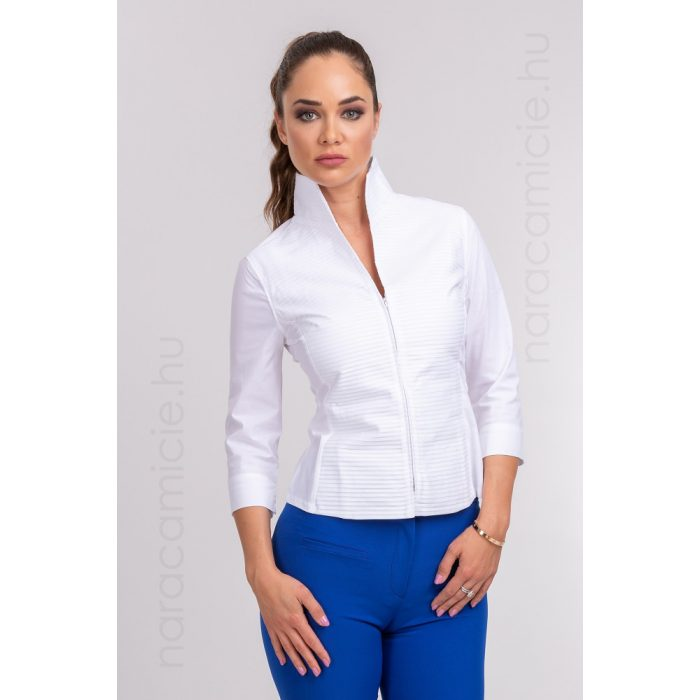 Stand-up collar 3/4 sleeve shirt F33480 T0016 001 38/M/II