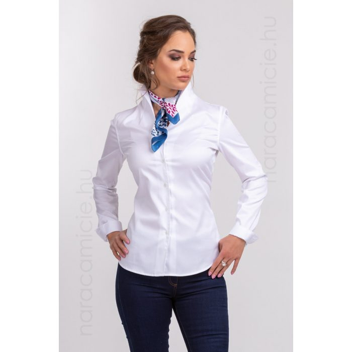 Stand-up collar, iron-free shirt F54926 T3890 001