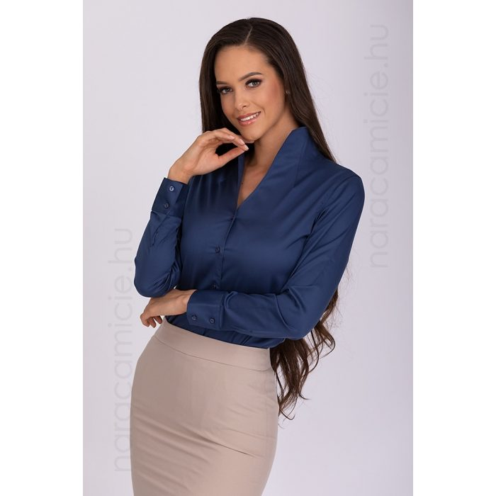 Stand-up collar, iron-free shirt F54926 T3890 263 34/XS/0