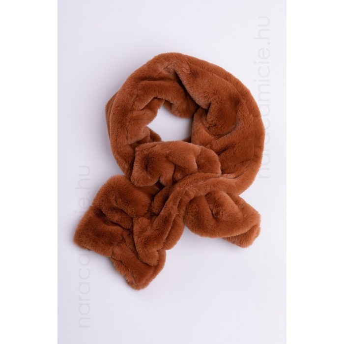 Rust brown faux fur scarf NA192CAE 1111 03